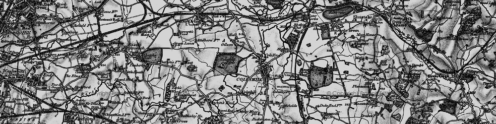 Old map of Coleshill in 1899