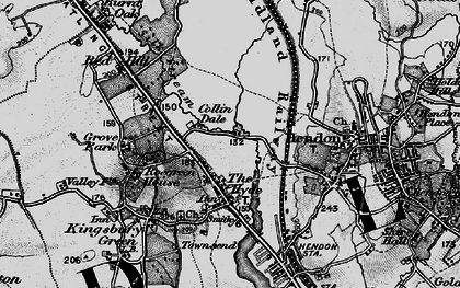 Old map of Colindale in 1896