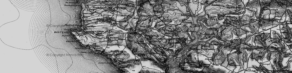 Old map of Collaton in 1897