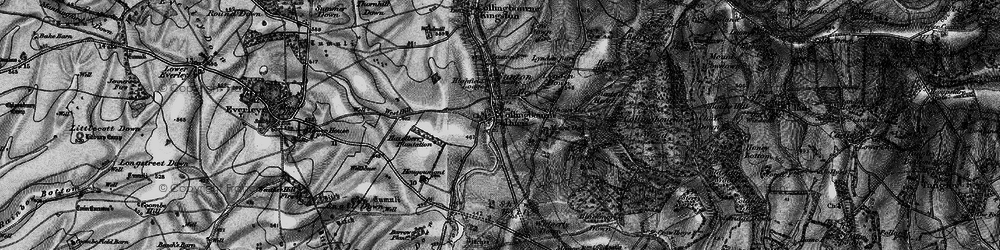 Old map of Windmillhill Down in 1898