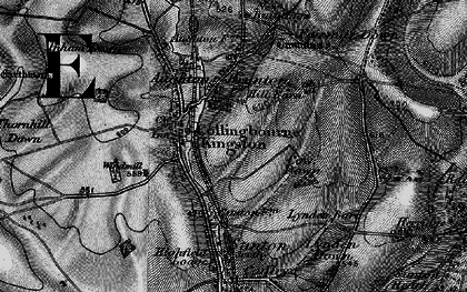 Old map of Collingbourne Kingston in 1898