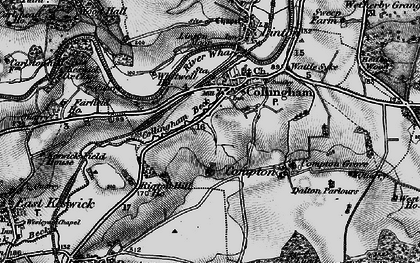 Old map of Collingham in 1898