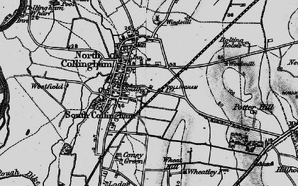 Old map of Wheatley Hill in 1899