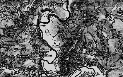 Old map of Whitbourne Ford in 1898