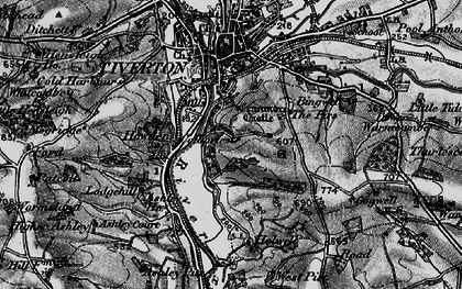 Old map of Backs Wood in 1898