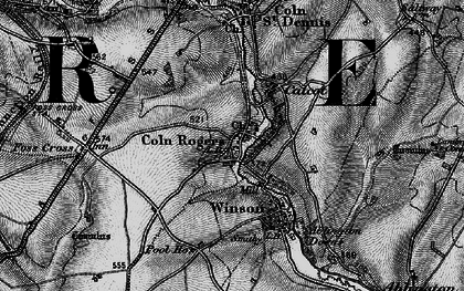 Old map of Coln Rogers in 1896