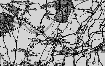 Old map of Colnbrook in 1896