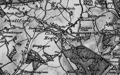 Old map of Colney Heath in 1896
