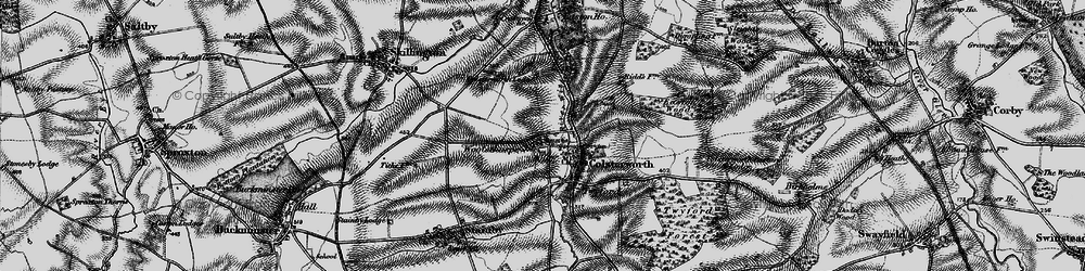 Old map of Colsterworth in 1895