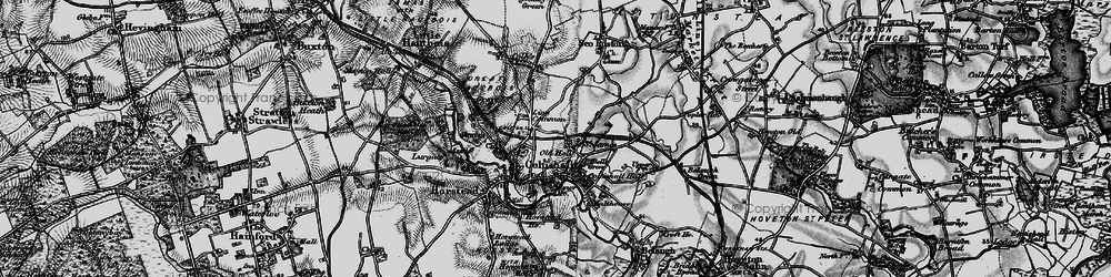 Old map of Coltishall in 1898