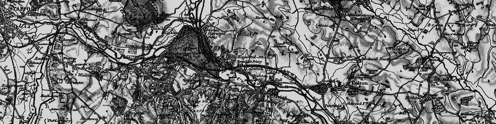 Old map of Colwich in 1898