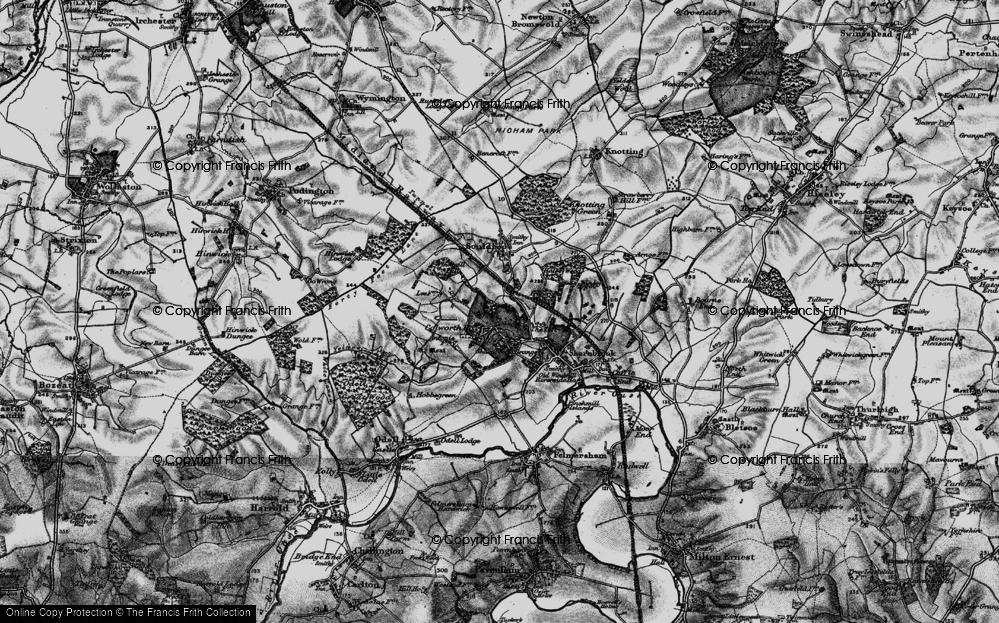 Old Map of Historic Map covering Tofte Manor in 1898