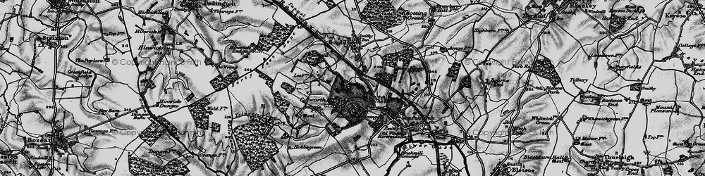 Old map of Tofte Manor in 1898