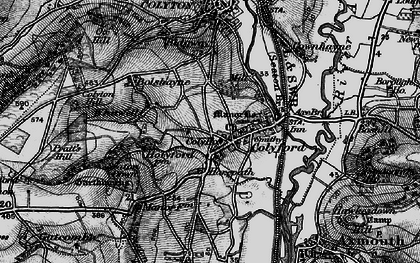 Old map of Colyford in 1897