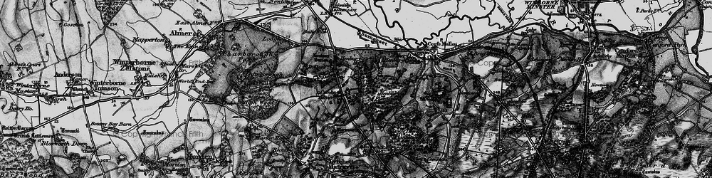 Old map of Windmill Barrow in 1895