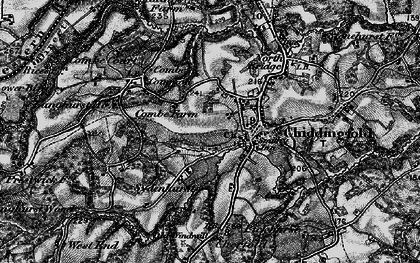 Old map of Combe Common in 1896