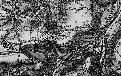 Old map of Combe Down in 1898