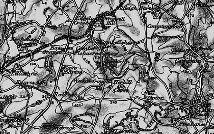 Old map of Wrigwell Hill in 1898
