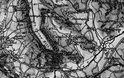 Old map of Combe Raleigh in 1898