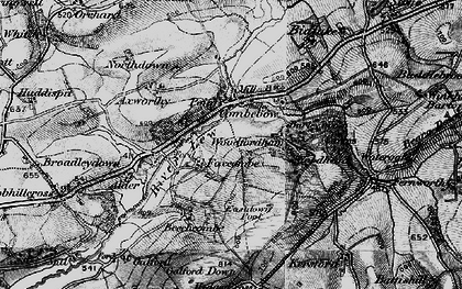 Old map of Axworthy in 1895