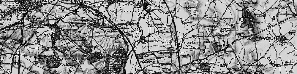 Old map of Wiggington Fields in 1898