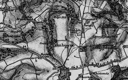 Old map of Combpyne in 1897
