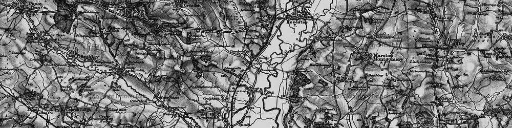 Old map of Limecrofts in 1897