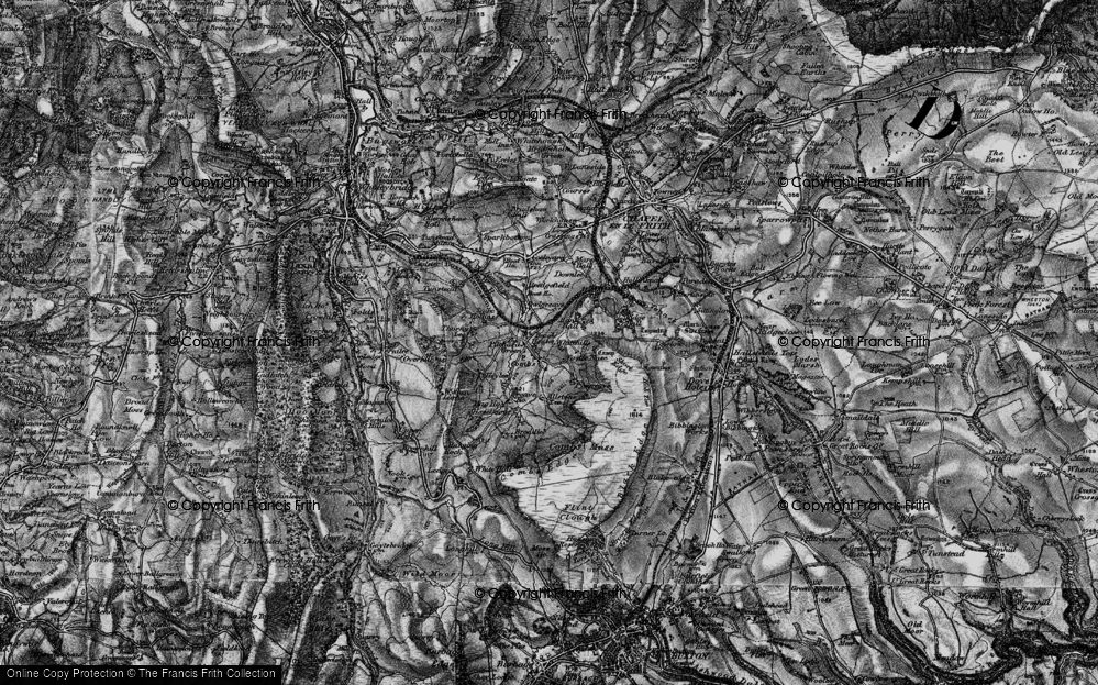 Old Map of Historic Map covering Allstone Lee in 1896