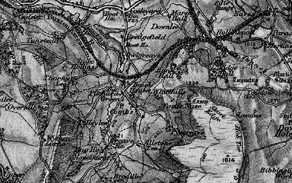 Old map of Allstone Lee in 1896