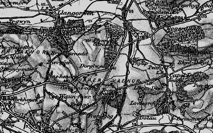 Old map of Afon Clarach in 1899