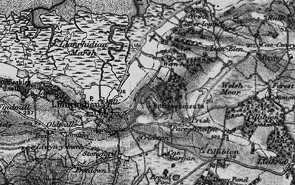 Old map of Common, The in 1896