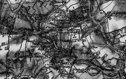 Old map of Commonwood in 1896