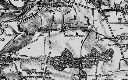 Old map of West Woods in 1898