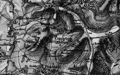 Old map of Compton Abbas in 1898
