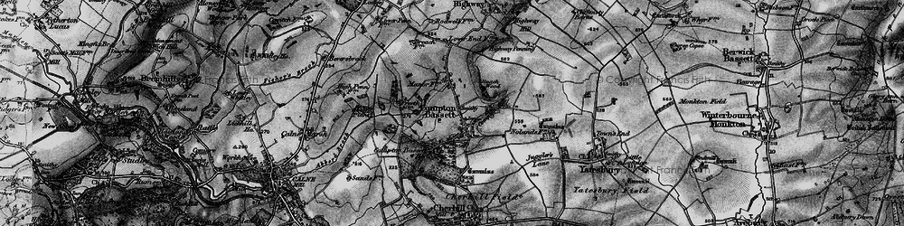 Old map of Compton Bassett in 1898
