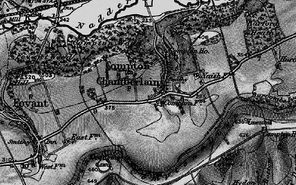Old map of Compton Chamberlayne in 1895