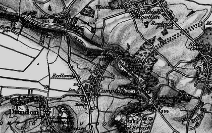 Old map of Compton Dundon in 1898