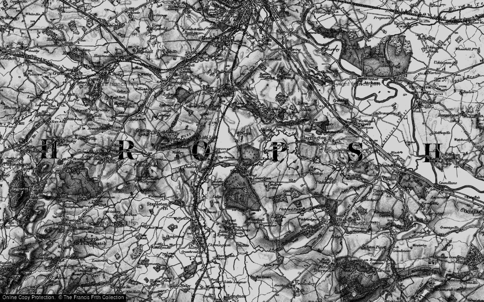 Old Map of Historic Map covering Allfield in 1899