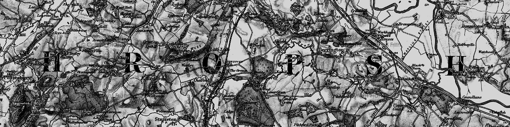 Old map of Allfield in 1899
