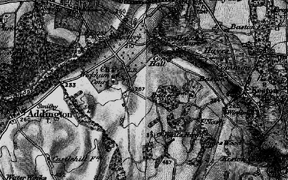 Old map of Wickham Court in 1895