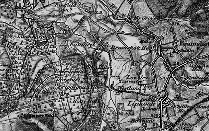 Old map of Woolmer Forest in 1895