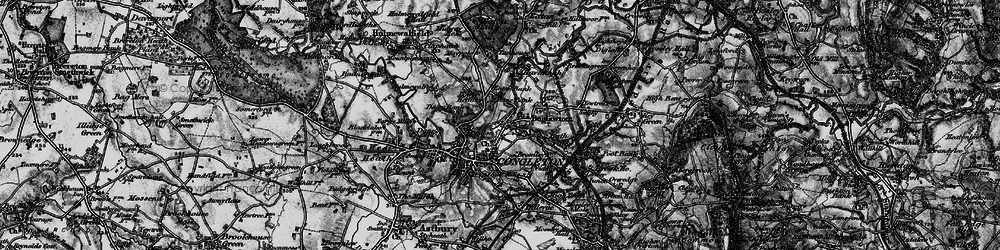 Old map of Congleton in 1897