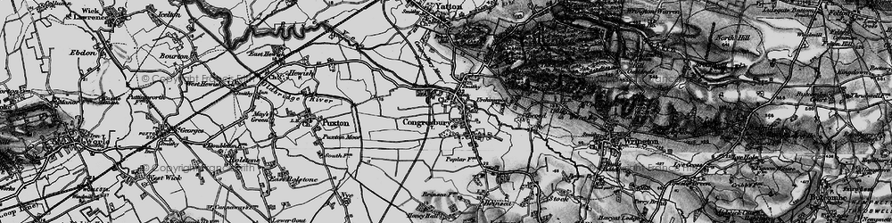 Old map of Congresbury in 1898