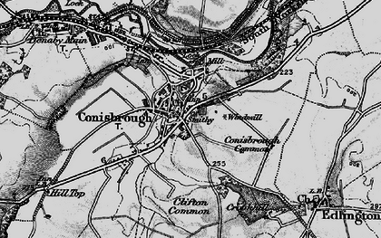 Old map of Conisbrough in 1895