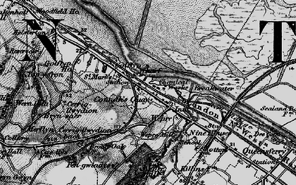 Old map of Connah's Quay in 1896