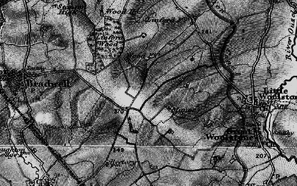 Old map of Conniburrow in 1896
