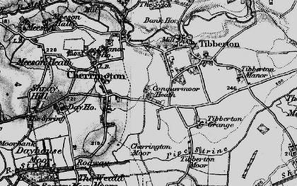 Old map of Tibberton Grange in 1899