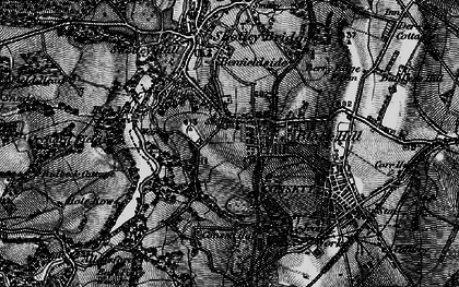 Old map of Consett in 1898