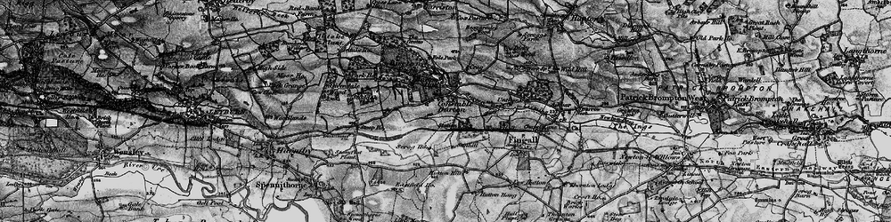 Old map of Wood Hall in 1897