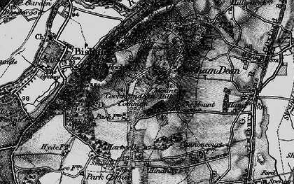 Old map of Cookham Dean in 1895
